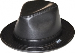View Buying Options For The Stylish Godfather Leather Mens Fedora Hat