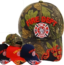 View Buying Options For The Fire Dept Fire Rescue Logo Flames On Bill Mens Cap