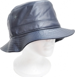 View Buying Options For The Plain PU Leather Mens Bucket Hat