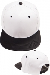 View Buying Options For The Plain PU Leather Flatbill Mens Snapback Cap