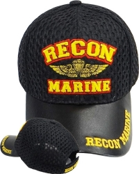 View Buying Options For The Recon Marine Wings Badge Vinyl Bill Mens Air Mesh Cap
