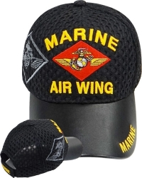 View Buying Options For The Marine Air Wing Shadow Vinyl Bill Mens Air Mesh Cap