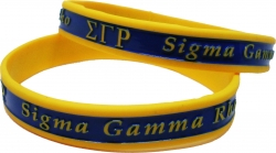 View Buying Options For The Sigma Gamma Rho 2-Tone Color Silicone Bracelet [Pre-Pack]