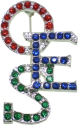 View Buying Options For The Eastern Star Crystal Overlap Letters Pin