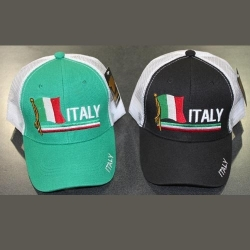 View Buying Options For The Italy Flag Country Design Trucker Mens Mesh Back Cap