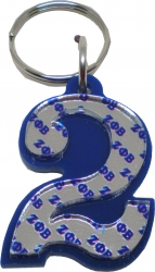 View Buying Options For The Zeta Phi Beta Color Mirror Line #2 Keychain