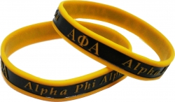 View Buying Options For The Alpha Phi Alpha 2-Tone Color Silicone Bracelet [Pre-Pack]