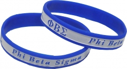 View Buying Options For The Phi Beta Sigma 2-Tone Color Silicone Bracelet [Pre-Pack]