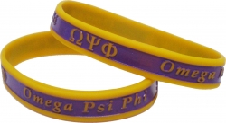 View Buying Options For The Omega Psi Phi 2-Tone Color Silicone Bracelet [Pre-Pack]
