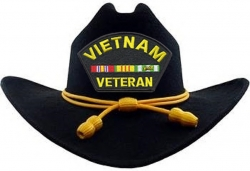 View Buying Options For The Vietnam Veteran Ribbons Patch Braid Felt Cowboy Western Mens Hat