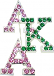 View Buying Options For The Alpha Kappa Alpha Crystal Overlap Letters Pin
