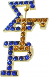 View Buying Options For The Sigma Gamma Rho Crystal Overlap Letters Pin