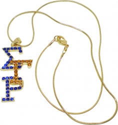View Buying Options For The Sigma Gamma Rho Overlap Letters Pendant with Necklace