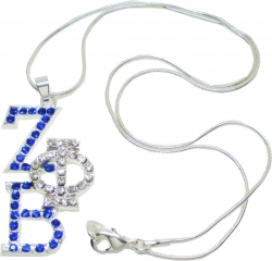 View Buying Options For The Zeta Phi Beta Overlap Letters Pendant with Necklace