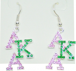 View Buying Options For The Alpha Kappa Alpha Crystal Overlap Letters Earrings