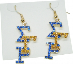 View Buying Options For The Sigma Gamma Rho Crystal Overlap Letters Earrings