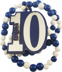 View Buying Options For The Zeta Phi Beta Line #10 Mirror Wood Color Bead Tiki Necklace