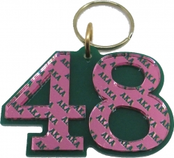 View Buying Options For The Alpha Kappa Alpha Color Mirror Line #48 Keychain