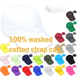 View Buying Options For The Plain Solid Color Washed Cotton Mens Cap