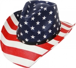 View Buying Options For The USA Flag Print Allover Mens Straw Hat