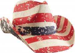 View Buying Options For The USA Distressed Flag Print Allover Mens Straw Hat
