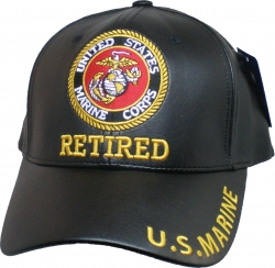 View Buying Options For The Marine Retired PU Leather Mens Cap