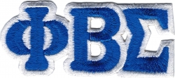 View Buying Options For The Phi Beta Sigma Connected Letter Iron-On Patch Set