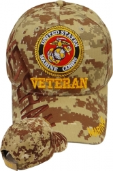 View Buying Options For The Marine Veteran Text Shadow Mens Cap