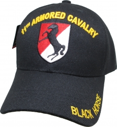 View Buying Options For The 11th Armored Cavalry Regiment Black Horse Mens Cap