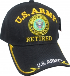 View Buying Options For The U.S. Army Retired Gold Line Edge Bill Mens Cap