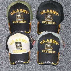 View Buying Options For The U.S. Army Star Retired Gold Line Edge Bill Mens Cap