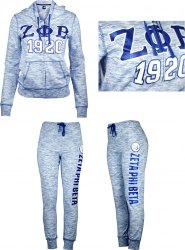 View Buying Options For The Zeta Phi Beta Divine 9 Ladies Pajama Jacket & Pants Set