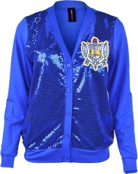 View Buying Options For The Sigma Gamma Rho Sequins Divine 9 Ladies Cardigan