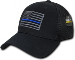 View Buying Options For The RapDom Thin Blue Line Embroidered Air Mesh Flex Mens Cap