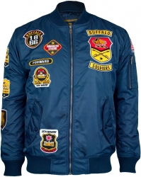 View Buying Options For The Big Boy Buffalo Soldiers Bomber Flight Mens Jacket