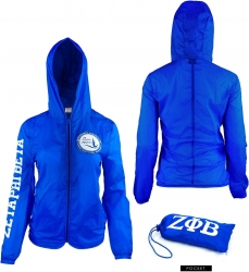 View Buying Options For The Zeta Phi Beta Divine 9 Light Ladies Jacket with Pocket Bag