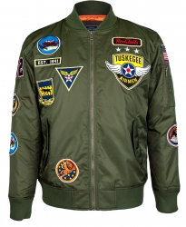 View Buying Options For The Big Boy Tuskegee Airmen Bomber Flight Mens Jacket