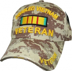 View Buying Options For The Disabled Vietnam Veteran Ribbon Sandwich Bill Mens Cap