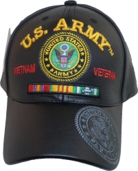 View Buying Options For The U.S. Army Vietnam Veteran Red Letter PU Leather Mens Cap
