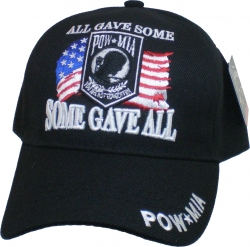 View Buying Options For The POW MIA Some Gave All Barb Wire US Flag Background Mens Cap