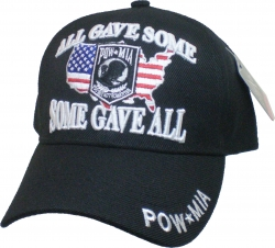 View Buying Options For The POW MIA Some Gave All US Flag Map Background Mens Cap