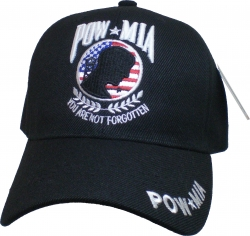 View Buying Options For The POW MIA Circle US Flag Background Mens Cap