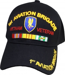 View Buying Options For The 1st Aviation Brigade Vietnam Veteran Red Letter Mens Cap