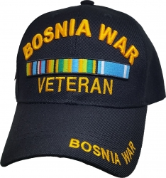 View Buying Options For The Bosnia War Veteran Ribbons Mens Cap
