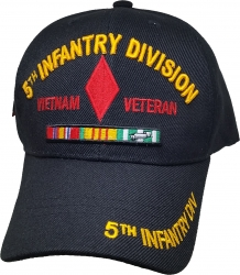 View Buying Options For The 5th Infantry Division Vietnam Veteran Red Letter Mens Cap