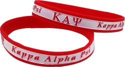 View Buying Options For The Kappa Alpha Psi 2-Tone Color Silicone Bracelet [Pre-Pack]