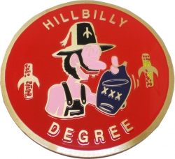 View Buying Options For The Hillbilly Degree Etched Round Car Emblem