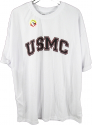 View Buying Options For The USMC Arch Text Moister Wicking Mens Tee