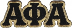 View Buying Options For The Alpha Phi Alpha Connected Letter Iron-On Patch Set