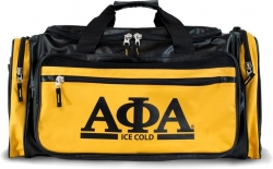 View Buying Options For The Alpha Phi Alpha Divine 9 S2 PU Leather Duffle Bag
